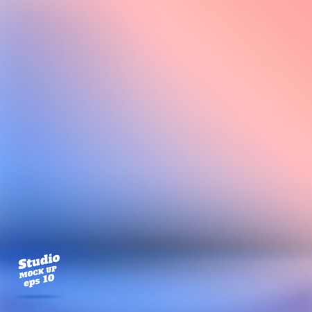 Vector,Empty studio room background with pink and blue Material design gradient style color ,Template mock up for display of product,Business backdrop