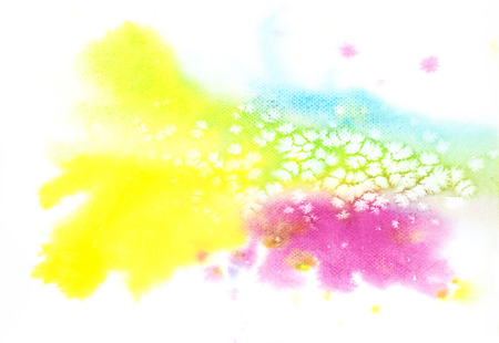 watercolor paper: Colorful watercolor texture background on white paper.