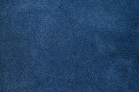 Close up blue color crumpled leather texture background. Stock Photo