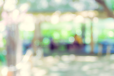 aroma: Blurred background,Garden restaurant blur background with bokeh light.
