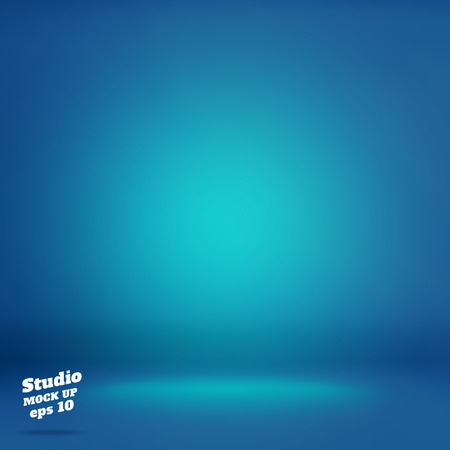 Vector,Empty vivid lighting blue studio room background ,Template mock up for display or montage of product,Business backdrop.
