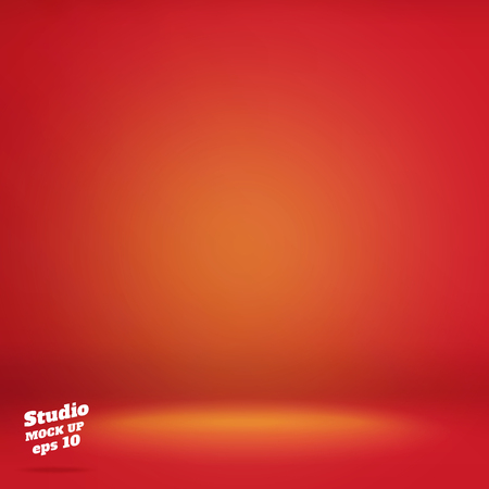 Vector,Empty vivid lighting red studio room background ,Template mock up for display or montage of product,Business backdrop.