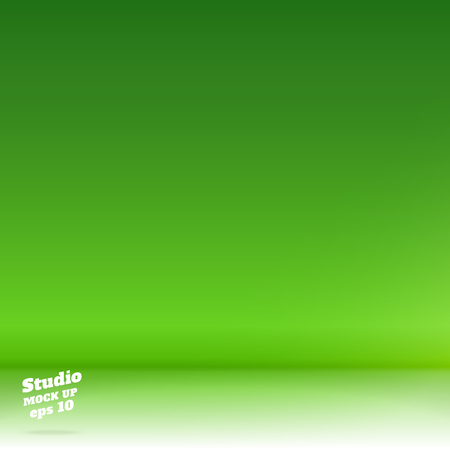 Vector,Empty white floor gradient to vivid lime green studio room background ,Template mock up for display or montage of product,Business backdrop