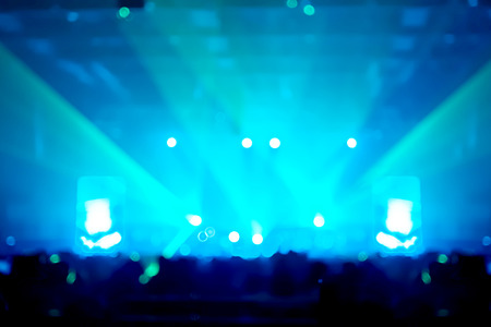 concert background: Blurred abstract background,Bokeh lighting in concert ,Music business concept. Stock Photo