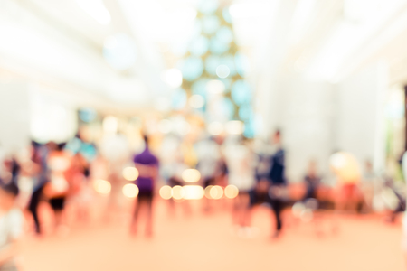 shopping mall: Blurred background, Customer shopping at shopping mall with bokeh light.