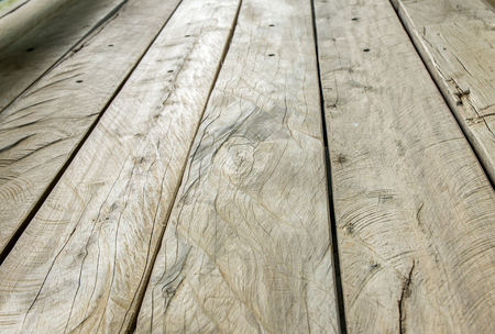 perspectives: Rustic Wood plank in perspective view (low angle). Stock Photo