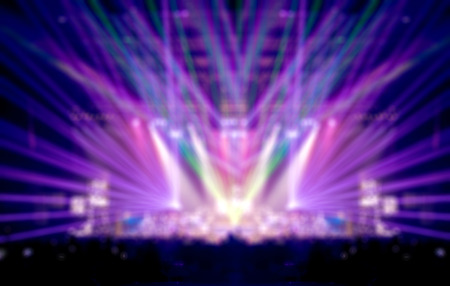 Blurred abstract background,Bokeh lighting in concert ,Music business concept. Stock Photo