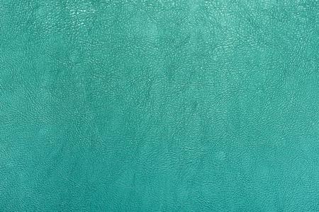 Turquoise color leather texture background. Foto de archivo
