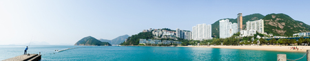 repulse: Panoramic scene of Repulse Bay Beach, Hong Kong in sunny day.