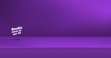 Vector,Empty vivid purple color studio table room background ,product display with copy space for display of content design.Banner for advertise product on website Standard-Bild - 113540821