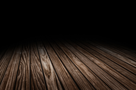 Dark Plank old wood floor texture perspective background for display or montage of product,Mock up template for your design