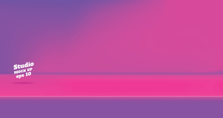 Vector,Empty vintage two tone pink and purple color studio table room background ,product display with copy space for display of content design.Banner for advertise product on website