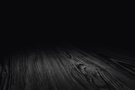 black wood floor texture perspective background for display or montage of product,Mock up template for your design Standard-Bild - 118844612