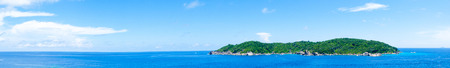 panorama banner of landscape island and blue sea in summer time Standard-Bild - 118844617