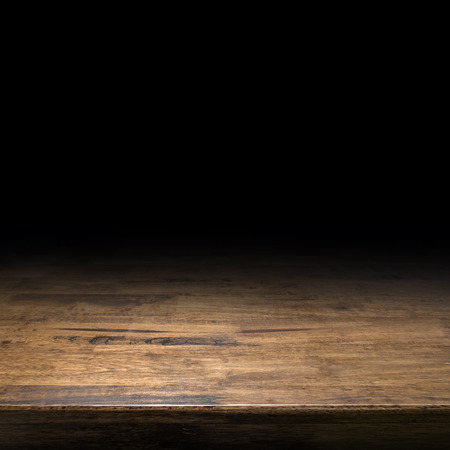 Brown wood table perspective background for display or montage of product,Mock up template for your design Standard-Bild - 120919663