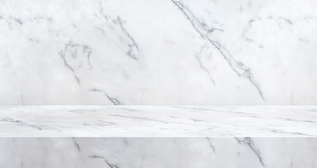 3D luxury marble table studio background textured for product display with copy space for display of content design.Banner for advertise product on website.3d rendering. 免版税图像