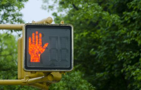 dont walk: Crosswalk traffic signal light