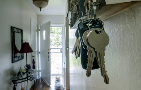 Key chain on key hook