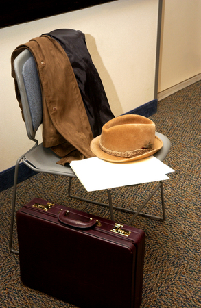 Elderly Man's Clothing And Suitcase