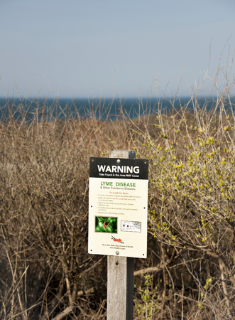 Warning Of Possible Lyme Disease From Ticks 写真素材
