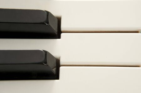 Macro photo of black and white piano keys 写真素材