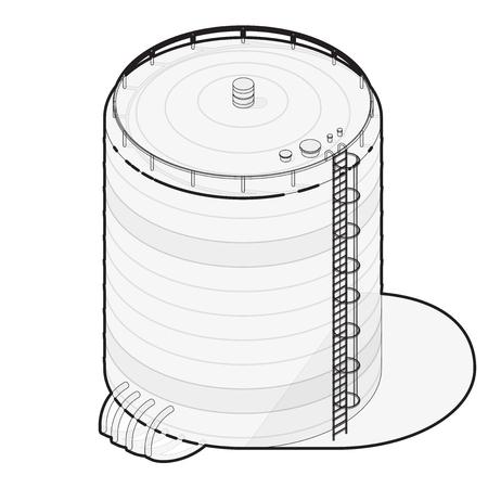 aguas residuales: depósito de agua se indica