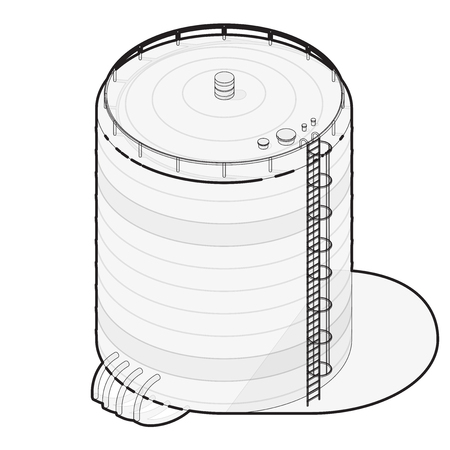 Outlined water reservoir