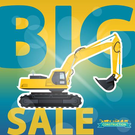 costruction: Big Excavator Sale