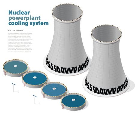 Cooling system of nuclear power plant.