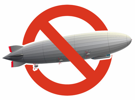 Prohibition of a large zeppelin airship filled with hydrogen. Strict ban on construction of flying balloon, forbidden.