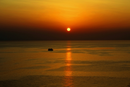 seaview: Sunset Stock Photo