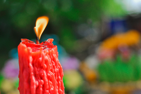 specific: Candle: Photo by focusing on a specific point Stock Photo