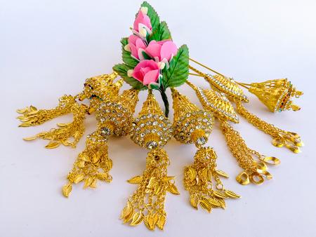 Thai wedding rings,Necklace, bracelet, belt, on traditional Thai style