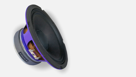 car audio speaker isolated on white background with clipping path