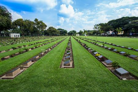 November 20/2016 : Don Rak War Cemetery of prison of war,in Kanchanaburi War (World war II) Cemetery