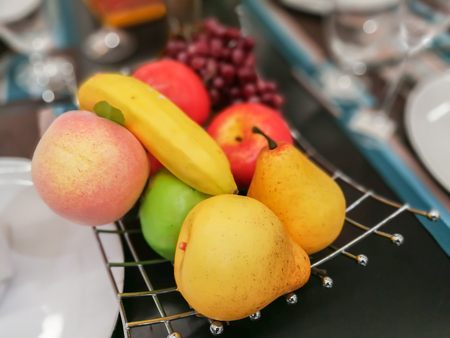 fake fruit for decorate on the table Stock Photo