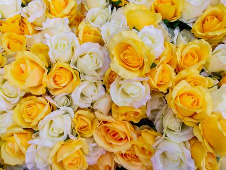 Bunch of flowers: orange roses, clove pinks