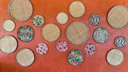 Handicraft made of bamboo,Thai arts and crafts