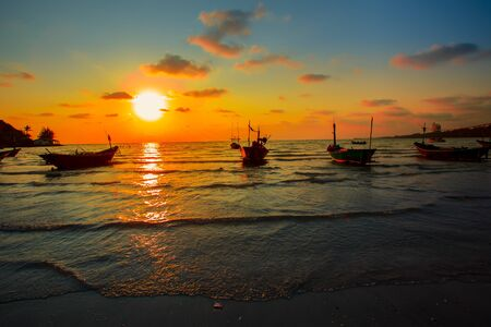 A beautiful Sunset seen the fishing boat