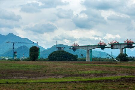 Road construction work to solve the traffic problems in rural Thailand Фото со стока - 129925159