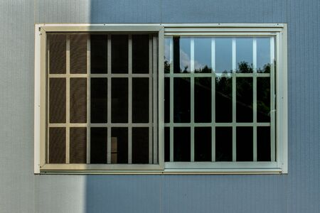 window curtains with sunlight through, interior design, Venetian blinds by the window or blinds window