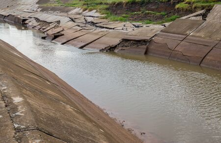 Soil subsidence on Drainage Canal, Erosion of the eroded soil, Layer of soil beneath