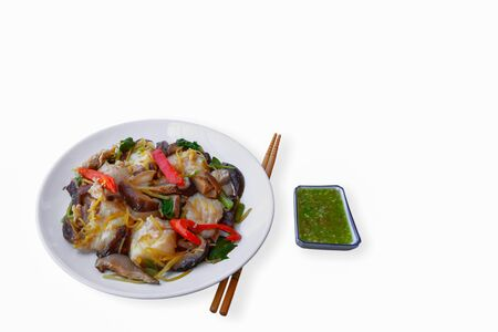 Stir fried fish with spicy spices, Thai style food