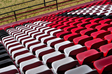 football stadium. Seats for fans, bench fans. Soccer game