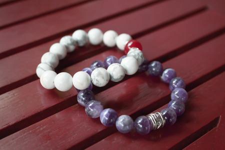 superstitions: Handmade stone bracelet