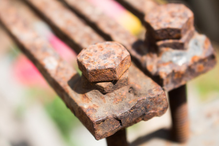 bolts heads: Old rusty Screw heads bolts