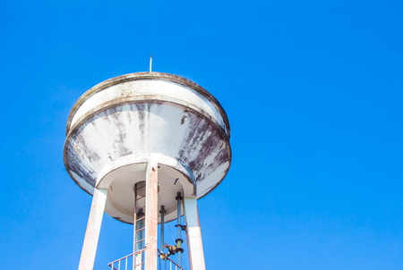 water tower: Tower plumbing Stock Photo