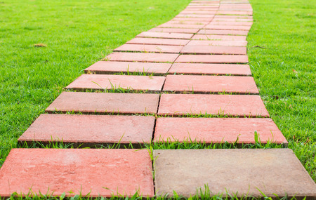 footpath: Footpath Stock Photo