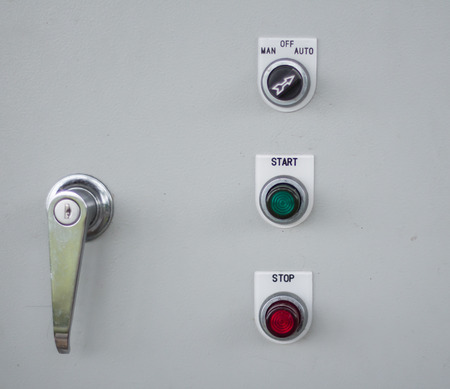 power button: Vintage electric switch