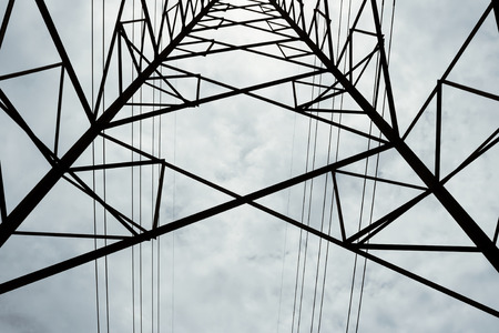 electric grid: High voltage post.High-voltage tower